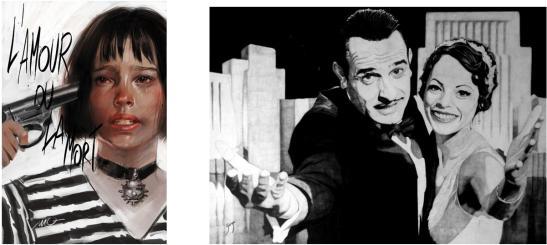 "Massimo Carnevale. ""León el profesional"" and Carles Ganya. ""The artist""."