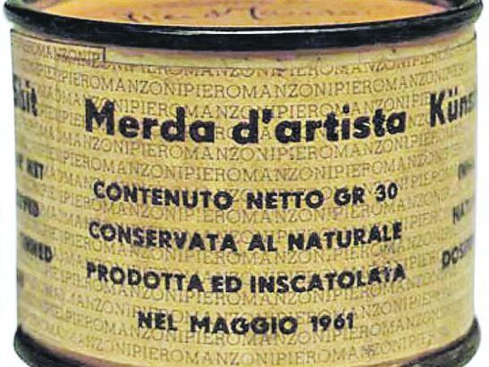Shitty artist. Piero Manzoni, 1961